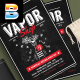 Vape Shop Flyer Menu