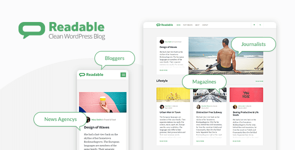 Readable - Blogging WordPress Theme Focused on Readability - Personal Blog / Magazine