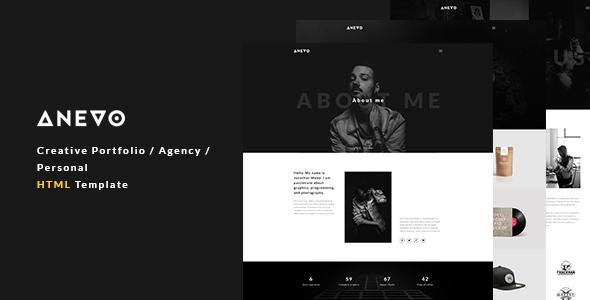 Anevo - Creative Portfolio / Agency / Personal HTML Template