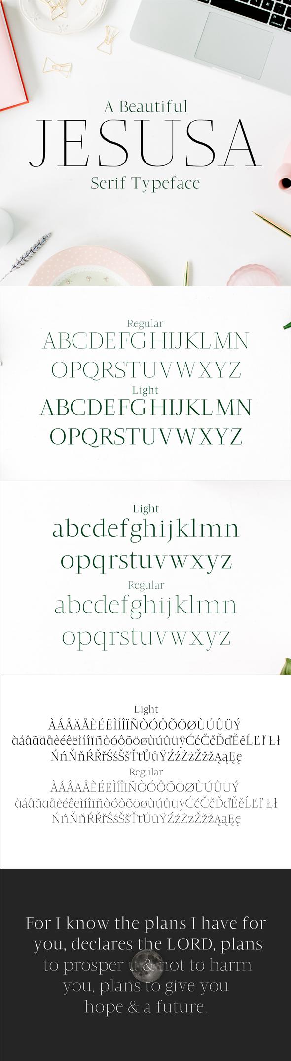 GraphicRiver Jesusa Serif Typeface 20520811