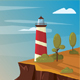 Lighthouse on the rock with sea. - GraphicRiver Item for Sale