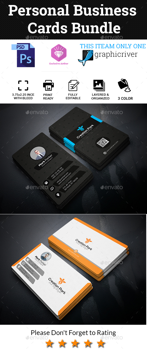 GraphicRiver Personal Business Cards Bundle 20521002