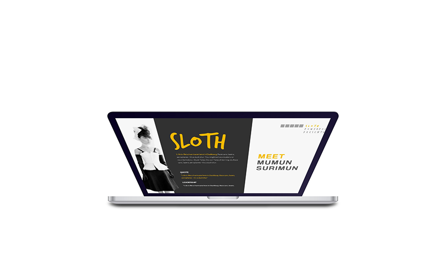 sloth creative agency powerpoint templategiantdesign, Presentation templates