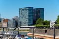 Dusseldorf city cityscape with urban marina - PhotoDune Item for Sale