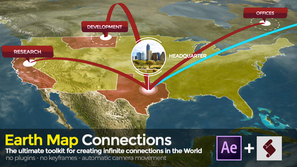 Earth map connections by marcobelli videohive play preview video download preview sciox Choice Image