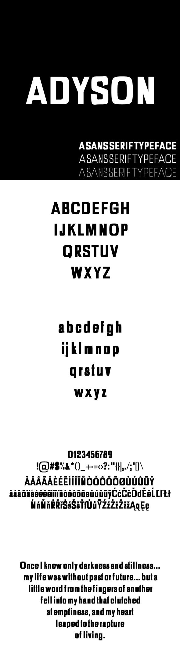 Adyson Sans Serif Typeface - Sans-Serif Fonts