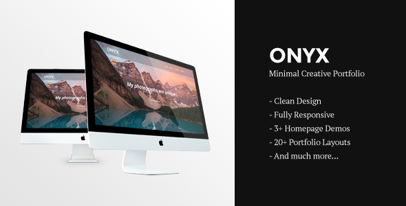 Onyx | Creative Responsive Minimal HTML Template