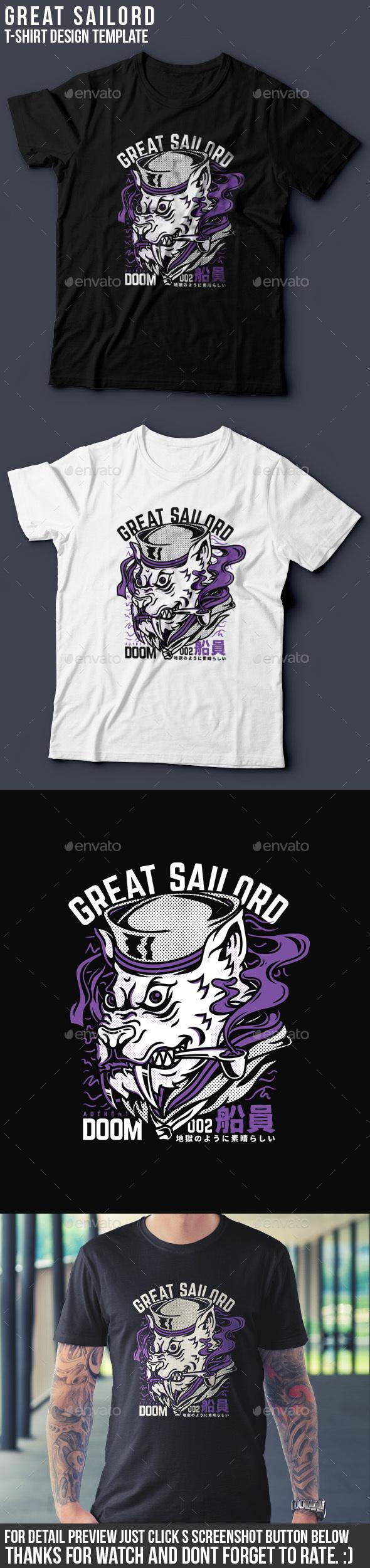 Great Sailord T-Shirt Design - Grunge Designs