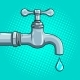 Water Tap with Drop Pop Art Vector - GraphicRiver Item for Sale