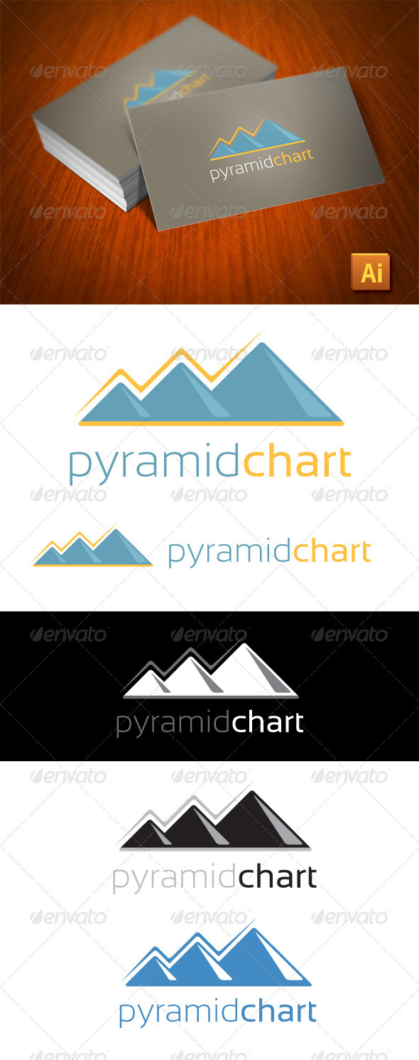 Pyramid Chart Logo Business - Buildings Logo Templates