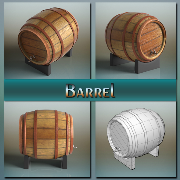 Barrel - 3DOcean Item for Sale