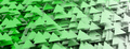 Green triangles abstract background. 3d illustration