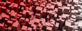 Red blocks abstract background. 3d illustration