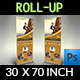 Climbing Sport Signage Roll Up Banner Template
