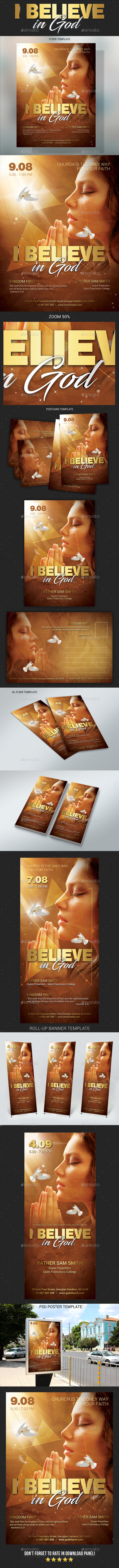 Believe In God Bundle - Signage Print Templates