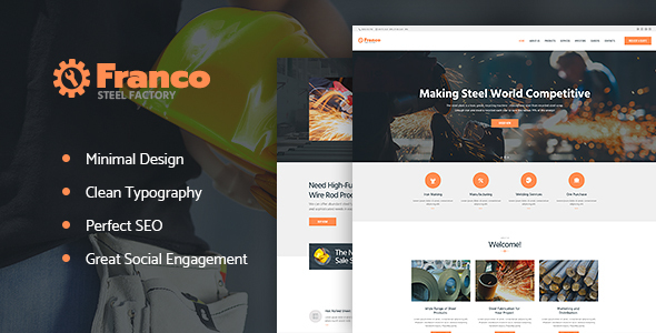 Franco | Steel Factory WP Theme - Business Corporate