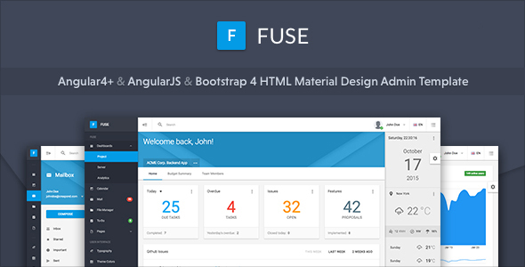 Fuse - Angular4+ & AngularJS & Bootstrap 4 HTML Material Design Admin Template