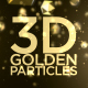 3D Golden Particles Backgrounds - VideoHive Item for Sale