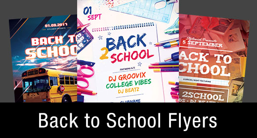 * Back to School Flyer Templates