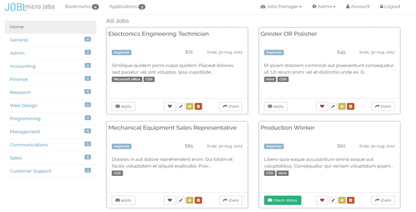 JOBL - Job-board for outsourcing projects - CodeCanyon Item for Sale
