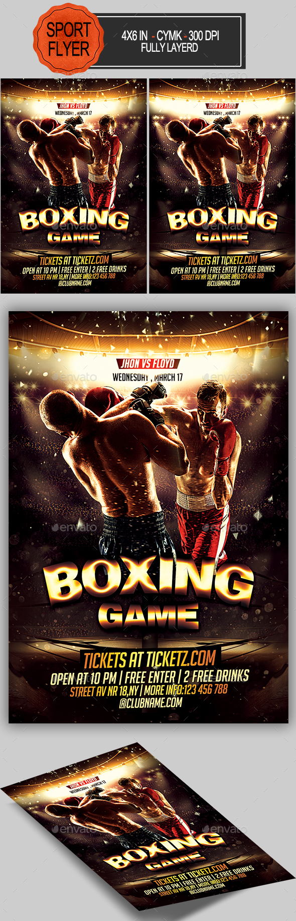 GraphicRiver Boxing Flyer 20522206