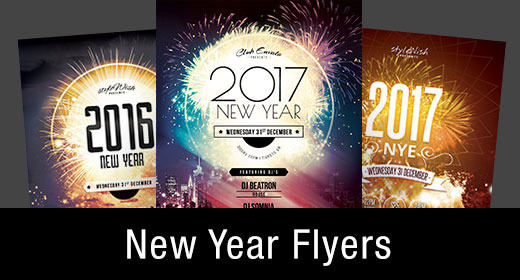 * New Year Flyer Templates