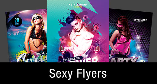 * Sexy Girl Flyer Templates