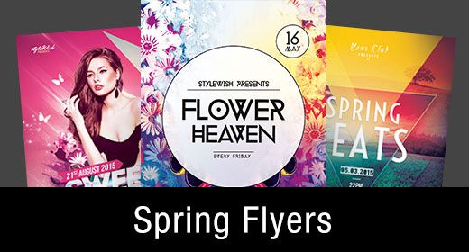 * Spring Flyer Templates