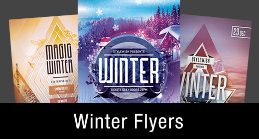 * Winter Flyer Templates
