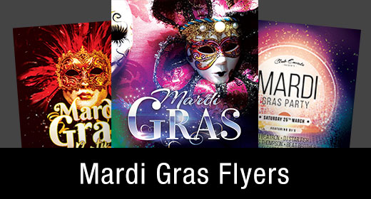 * Mardi Gras Flyer Templates