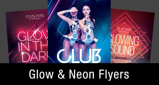 * Glow & Neon Flyer Templates