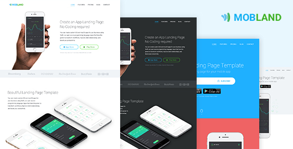 Mobile App Landing Page Templates — Mobland - Apps Technology