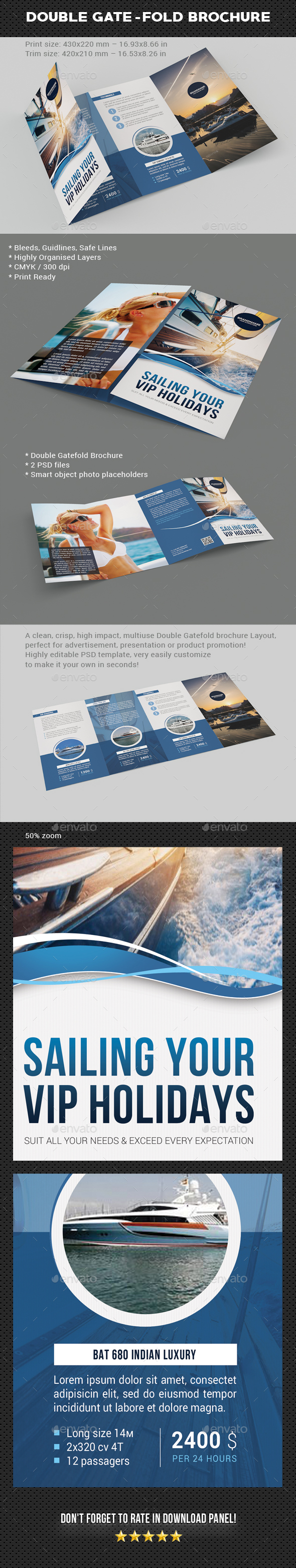 GraphicRiver Yacht Sailing Double Gate-Fold Brochure 20522544