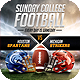 Sunday College Football Flyer - GraphicRiver Item for Sale