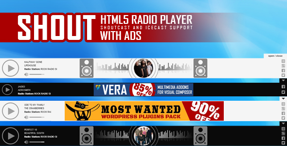 SHOUT - HTML5 Radio Player With Ads - ShoutCast and IceCast Support - CodeCanyon Item for Sale