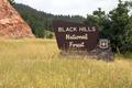 Black Hills National Forest Roadside Monument Sign South Dakota