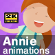 Annie Cartoon Girl Animations Pack - VideoHive Item for Sale
