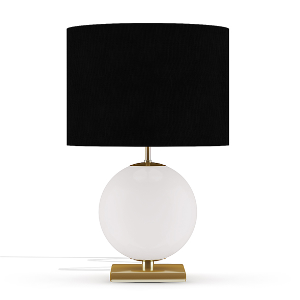 Desk Lamp with Black Shade - 3DOcean Item for Sale