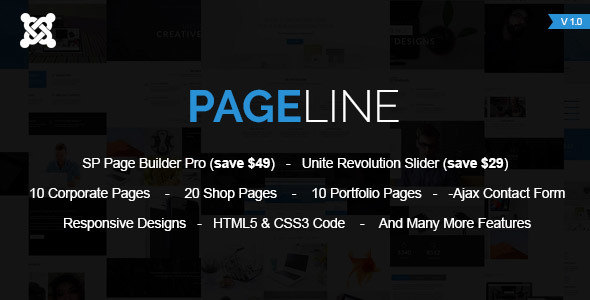 PageLine - Multi-Purpose Joomla Template With Page Builder