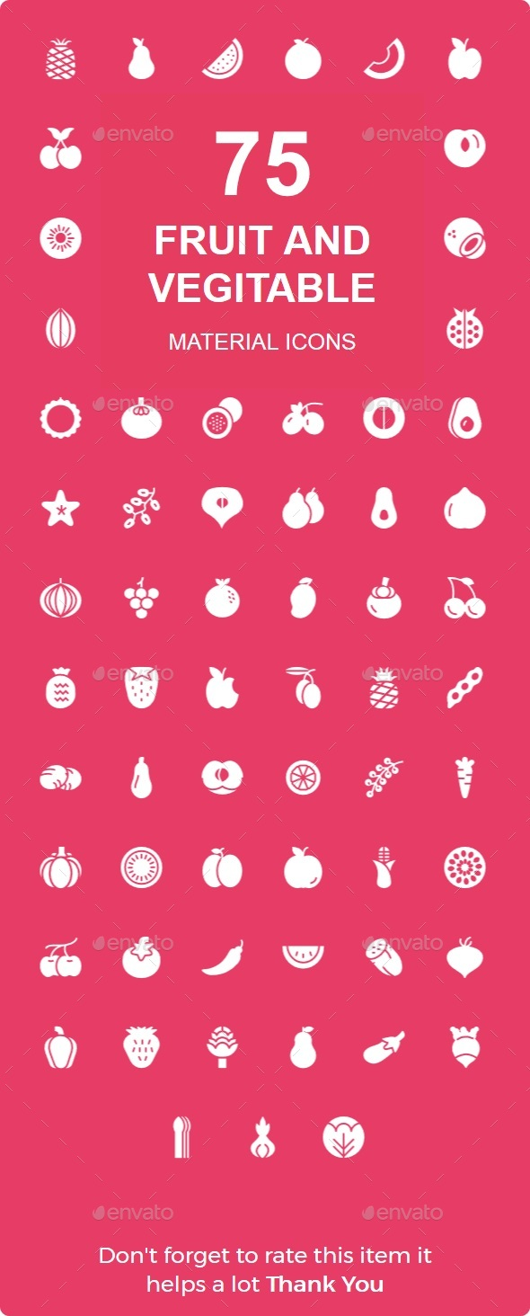 Fruit & Veritable Material icon - Web Icons