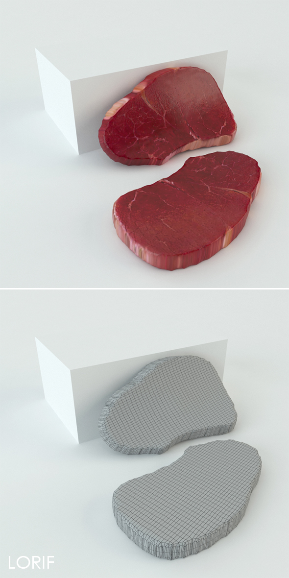 Meat steak - 3DOcean Item for Sale
