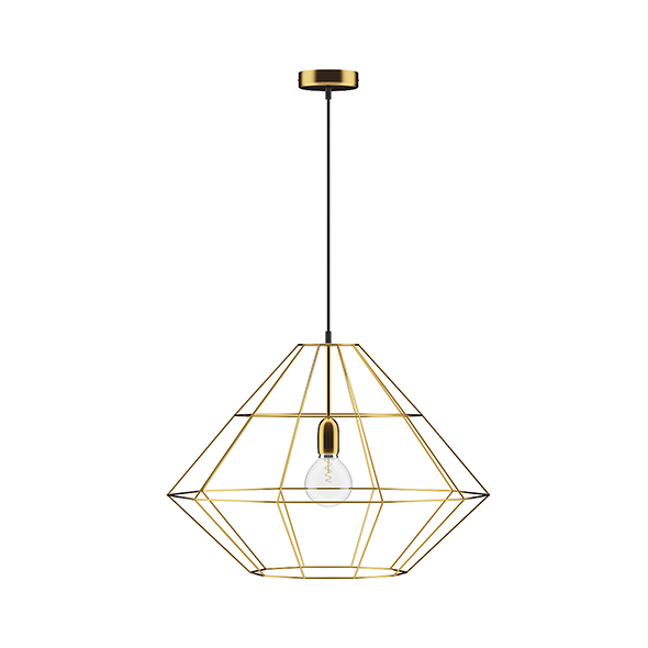 Golden Wire Ceiling Lamp - 3DOcean Item for Sale