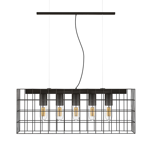 3DOcean Ceiling Lamp with Wire Shade 20523274