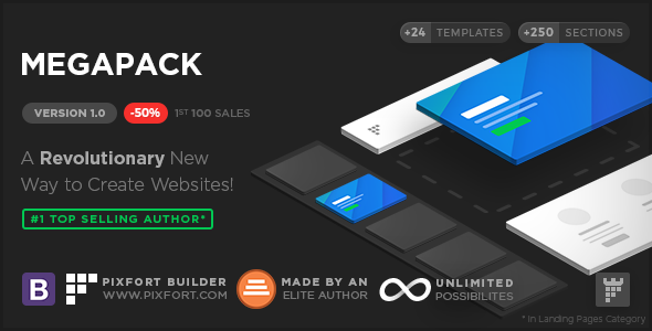 ThemeForest MEGAPACK Premium Marketing Landing Pages Pack & Page Builder 20350174