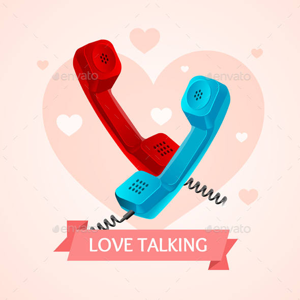GraphicRiver Love Talk Old Phone Concept 20523445