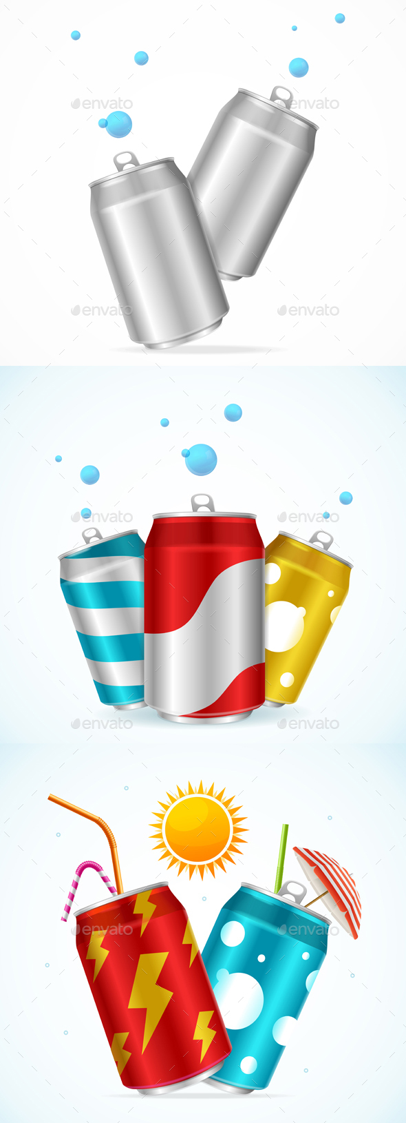 GraphicRiver Realistic Steel Cans Set 20523491