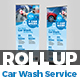 Car wash Roll-Up Banner Template