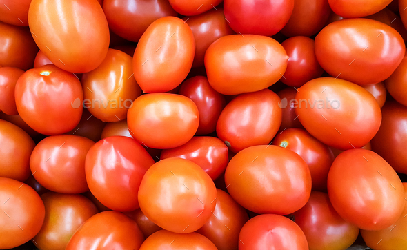 Background of red tomatoes. - Stock Photo - Images
