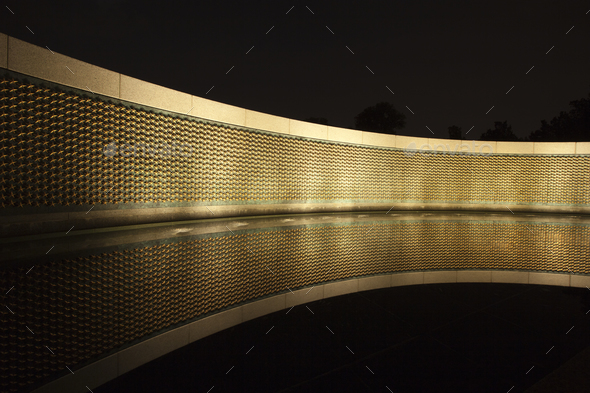 Stars of Freedom Wall at the World War II Memorial in Washington DC - Stock Photo - Images