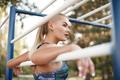 Workout girl portrait